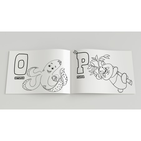 ABC English Alphabet coloring book